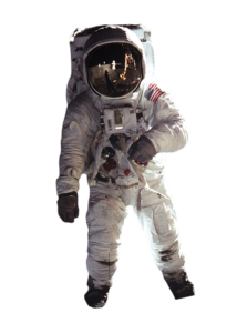 spaceperson in suit